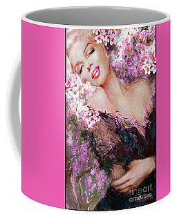 Marilyn Cherry Blossoms Pink Coffee Mug