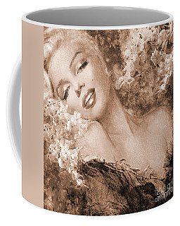Marilyn Cherry Blossoms, Sepia Coffee Mug