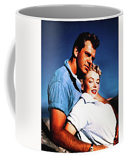 Coffee Mug featuring the photograph Marilyn Monroe Blond Bomb Shell Clash By Night by R Muirhead Art
