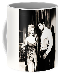 Coffee Mug featuring the photograph Marilyn Monroe Blond Bomb Shell by R Muirhead Art