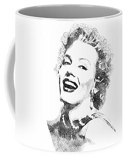 Marilyn Monroe Bw Portrait Coffee Mug