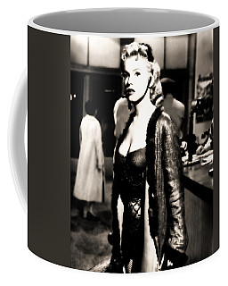 Coffee Mug featuring the photograph Marilyn Monroe Dressed To Trill In Bus Stop by R Muirhead Art
