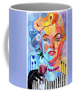 Marilyn Monroe Drinking Wine Coffee Mug