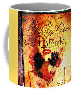 Coffee Mug featuring the photograph Marilyn Monroe Gentlemen Prefer Blondes 20160105 by Wingsdomain Art and Photography