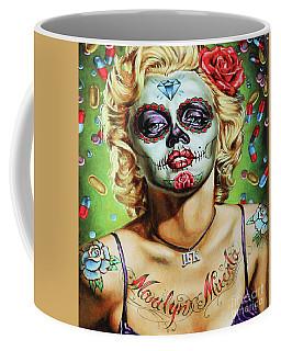 Marilyn Monroe Jfk Day Of The Dead  Coffee Mug
