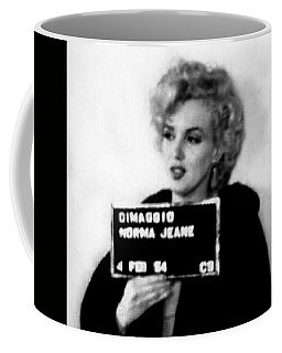 Marilyn Monroe Mugshot In Black And White Coffee Mug