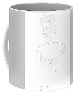 Coffee Mug featuring the painting Marilyn Monroe Pop Art Bus Stop by R Muirhead Art