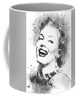 Marilyn Monroe Scribbles Portrait Coffee Mug