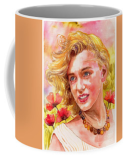 Marilyn Monroe With Poppies Coffee Mug