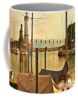 Marina At Golden Light - Digital Paint Coffee Mug