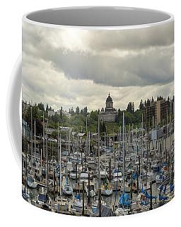 Marina In Olympia Washington Waterfront Moorage Coffee Mug