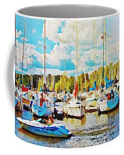 Marina In The Summertime Coffee Mug