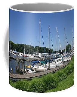 Marina On Black River Coffee Mug