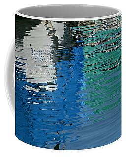 Marina Water Abstract 1 Coffee Mug by Fraida Gutovich