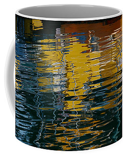 Marina Water Abstract 2 Coffee Mug by Fraida Gutovich