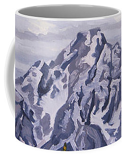 Coffee Mug featuring the painting Marina's Edge, Jenny Lake, Grand Tetons by Erin Fickert-Rowland