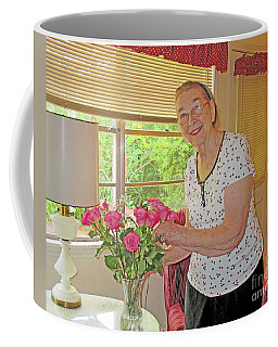 Marion Loves Roses Coffee Mug by Fred Jinkins