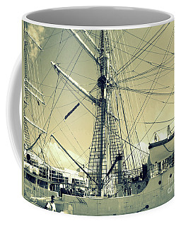 Maritime Spiderweb Coffee Mug by Susan Lafleur