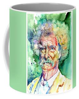 Mark Twain Watercolor Coffee Mug