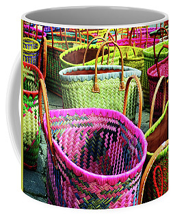 Coffee Mug featuring the photograph Market Baskets - Libourne by Rick Locke