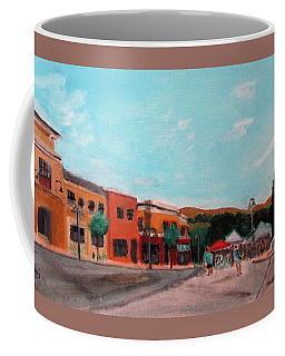 Coffee Mug featuring the painting Market Day by Linda Feinberg