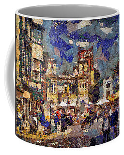 Coffee Mug featuring the digital art Market Square Monday by Leigh Kemp