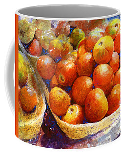 Coffee Mug featuring the painting Market Tomatoes by Andrew King