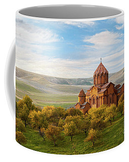 Marmashen Monastery Surrounded By Yellow Trees At Autumn, Armeni Coffee Mug