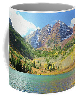 Coffee Mug featuring the photograph The Maroon Bells Reimagined 2 by Eric Glaser