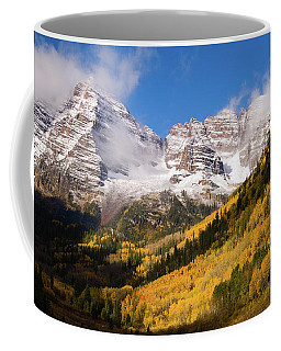 Coffee Mug featuring the photograph Maroon Bells by Steve Stuller