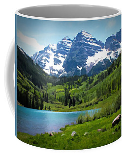 Maroon Bells - Watercolor Coffee Mug