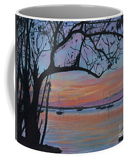 Marsh Harbour At Sunset Coffee Mug