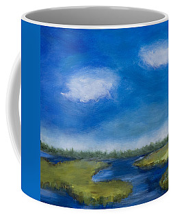 Coffee Mug featuring the painting Marsh In The Low Country by Frank Bright
