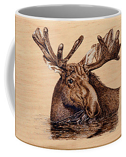 Marsh Moose Coffee Mug by Ron Haist