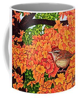 Marsh Wren Coffee Mug by Michael Frank
