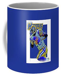 Marshall Faulk Los Angeles Rams Oil Art Coffee Mug by Joe Hamilton