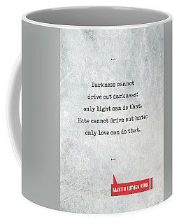 Martin Luther King Quotes 1 - Literary Quotes - Book Lover Gifts - Typewriter Quotes Coffee Mug