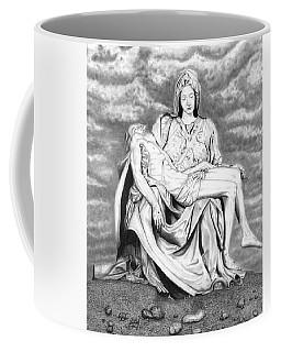 Mary Holding Jesus Drawing Coffee Mug