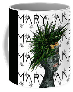 Coffee Mug featuring the digital art Mary Jane by Nola Lee Kelsey