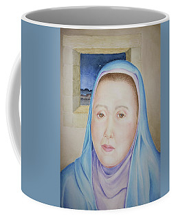 Coffee Mug featuring the painting Mary Waits At Easter Dawn by Michele Myers