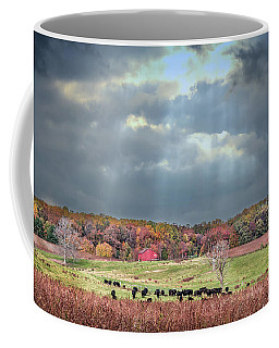 Maryland Farm With Autumn Colors And Approaching Storm Coffee Mug