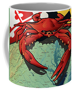Maryland Red Crab Coffee Mug