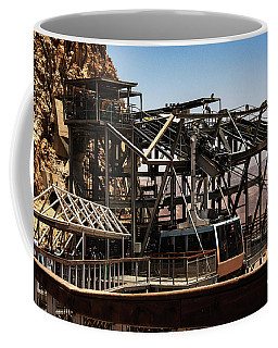 Coffee Mug featuring the photograph Masada Lift by Mae Wertz