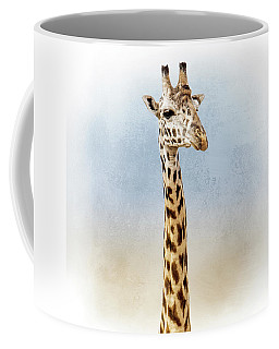 Masai Giraffe Closeup Square Coffee Mug