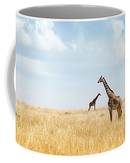 Masai Giraffe In Kenya Plains Coffee Mug