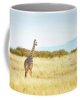 Masai Giraffe Walking In Kenya Africa Coffee Mug