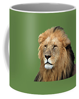 Masai Mara Lion Portrait    Coffee Mug