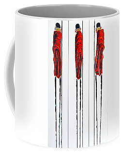 Masai Warrior Triptych - Original Artwork Coffee Mug