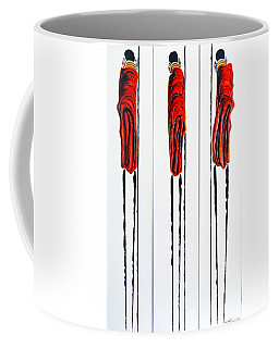 Masai Warrior Triptych - Original Artwork Coffee Mug