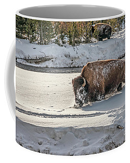 Coffee Mug featuring the photograph Masked Bison by Sue Smith